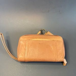 Brown leather Rolfs ladies wallet in excellent cnd